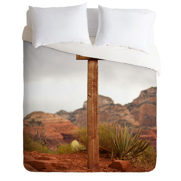 Barbara Sherman End Of Trail Duvet Cover