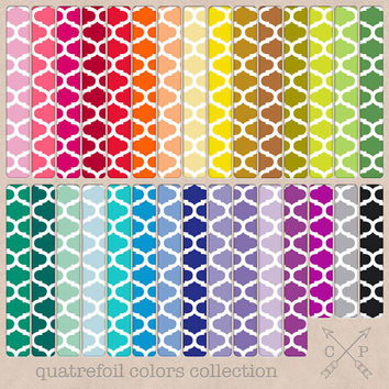 Moroccan pattern quatrefoil digital papers. Great for web and blog backgrounds, digital scrapbooking, printing for cards, or graphic design