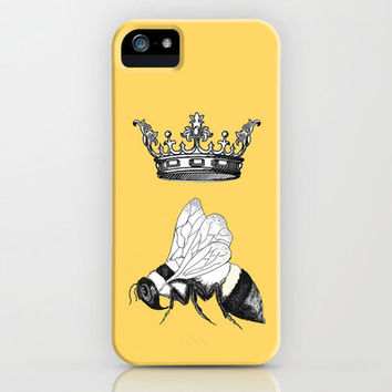 Queen Bee Phone Case, iphone4/4s, iphone 5, Samsung S3, Royal Majesty, bumblee, illustrated, gadgets, tech