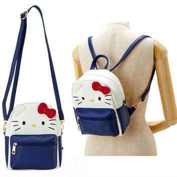 Cute Hello Kitty My Melody Kuromi PU Leather Shoulder Messenger Bag Small Back Pack Crossbody Bags for Women Girls Sling Bag