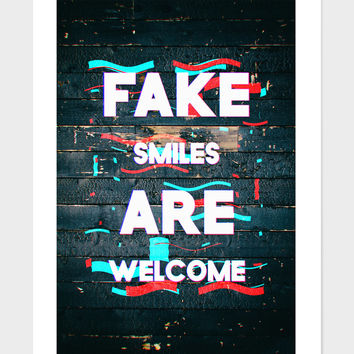 «Poster III - Fake Smiles» Art Print by ArtDesignWorks - Numbered Edition from $24.9 | Curioos