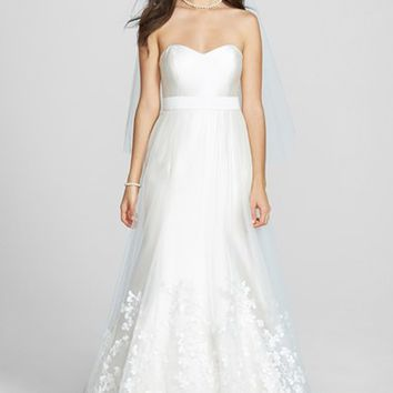 Women's Jenny Yoo 'London' Embroidered A-Line Tulle Overskirt (In Stores Only)