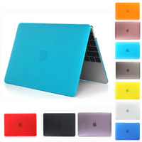 New Transparent Crystal/Matte Case For apple macbook air 11 12 13 Pro 13 15 Retina 13 15 laptop case Protector For mac air 13.3