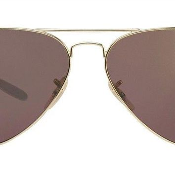 Cheap Ray-Ban RB8317 001/6B 58-14 Polarized Purple Mirror Chromance Lens Gold Silver