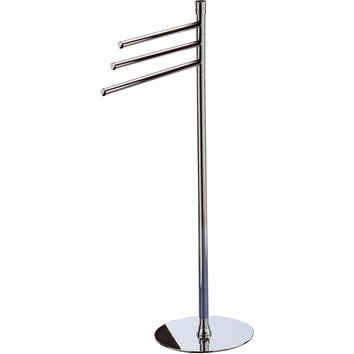 Standing Towel Rack Stand Bar Towel Holder 3-tier Triple Bar Towel Bar, Brass