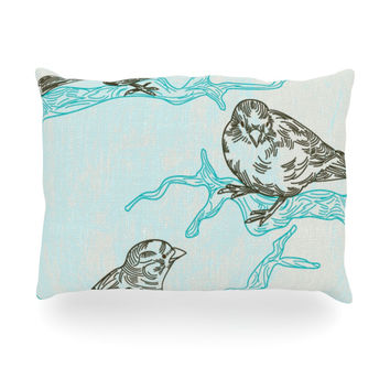 "Sam Posnick ""Birds in Trees"" Oblong Pillow"
