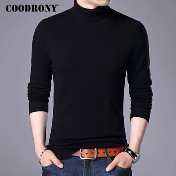 COODRONY Sweater Men 2017 Autumn Winter New Warm Turtleneck Sweaters Cashmere Wool Pull Homme Casual Pullover Mens Knitwear 7182