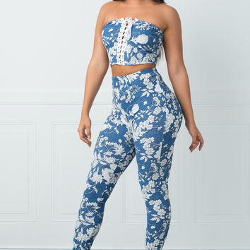 Dominique Two Piece Floral Set