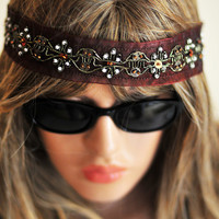 Boho Headband Hair Band  Ribbon Headband  Hair Jewelry For Women gift ideas Hippie hair accesories Women's Fashion wedding