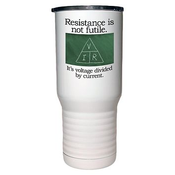 Resistance is Not Futile Polar Camel White Travel Mug- 20 ounce