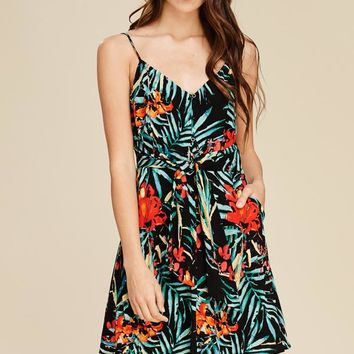 Staccato Floral Dress