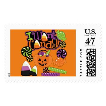 I Want Candy Postage Stamp