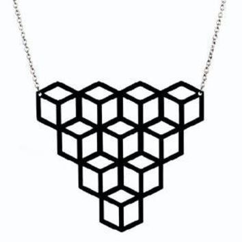 Supermarket - Aggregate Vinyl Record Necklace from Aroha Silhouettes