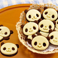 Cute panda cookie cutter by LovebirdDesign on Etsy