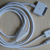 3.5mm Car AUX Audio USB Cable for iPhone 3G 3GS 4 4G 4GS 4S iPod