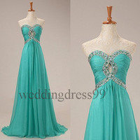 Custom Beaded Long Prom Dresses Fahion Evening Gowns Formal Party Dresses Bridesmaid Dresses 2014 Fashion Party Dress Cocktail Dresses
