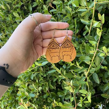 Sheep Leather Earrings