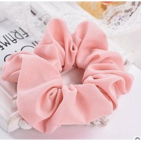 Free Shipping 2017 New women's hair Scrunchies Hair Tie Hair Accessories Ponytail Holder Hair
