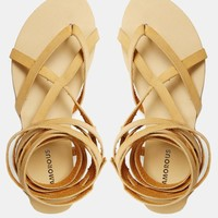 Glamorous | Glamorous Tan Tie Up Flat Gladiator Sandals at ASOS