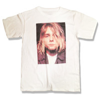Holiday Sale - 15 Dollars- Kurt Cobain Shirt - Celebrity - All Sizes Available