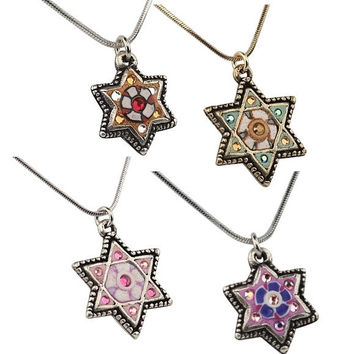 Star of David Pendant Necklace - Fimo