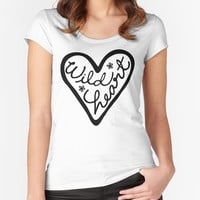 Wild Heart T-shirt - Fitted Scoop Neck Women's T-shirt