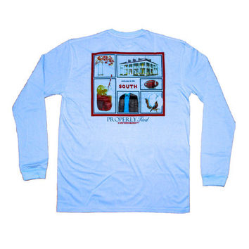 "Properly Tied ""Welcome to the South"" Long Sleeve Shirt"