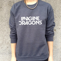 Imagine Dragons Band Jumper Top Sweater Music Rock Tour Tumblr Demons Radioactive night visions