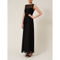 Buy Planet Lace Maxi Dress, Black | John Lewis