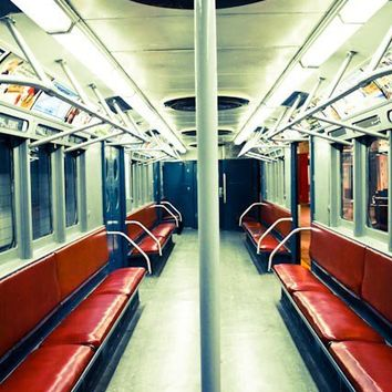 New York City Subway in Red 16x20 Fine Art by rebeccaplotnick