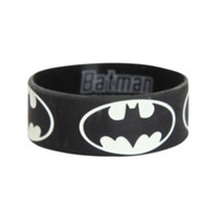 DC Comics Batman Glow-In-The-Dark Rubber Bracelet