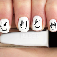 "Sign Language ""I love you"" emoji Nail Decals-24 ct."