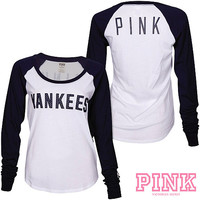 New York Yankees Victoria's Secret PINK® Drapey Baseball T-Shirt - MLB.com Shop