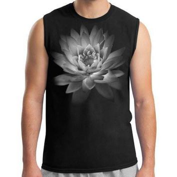 Yoga Clothing for You Mens Lotus Flower Muscle Tee Shirt