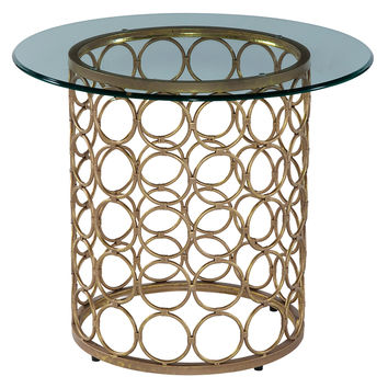 Bassett Mirror Carnaby Round Side Table - Gold