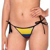 Colombia Flag AOP Swimsuit Bikini Bottom All Over Print