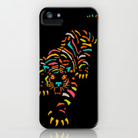 Tiger iPhone & iPod Case by Jazzberry Blue