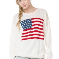 Brandy ♥ Melville |  Suzie American Flag Sweater - Clothing
