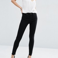 ASOS 'Sculpt Me' High Rise Premium Jeans in Clean Black at asos.com
