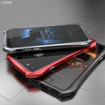 Batman Dark Knight gift Christmas LUPHIE For iPhone 7 Case Original Luxury Metal Aluminum Frame Hard Slim Batman Bumper Phone Case for iPhone 7 Plus Case Cover AT_71_6
