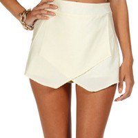 Sale-ivory Envelope Skort