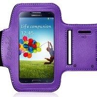 Ionic ACTIVE Sport Armband Case for Samsung Galaxy S4 S 4 SIV / New Samsung Galaxy S4 2013 Model (AT&T, T-Mobile, Sprint, Verizon)(Purple)
