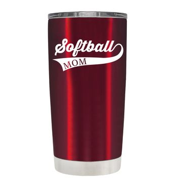 TREK Softball Mom Swish on Translucent Red 20 oz Tumbler Cup