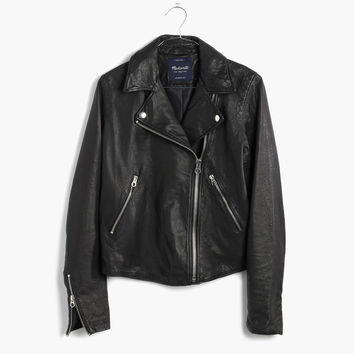 Washed Leather Motorcycle Jacket : | Madewell
