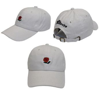 Day-First™ White The Hundreds Rose Strap Cap Adjustable Golf Snapback Baseball Hat