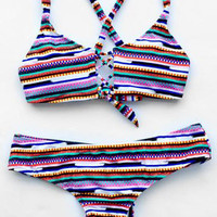 Cupshe Lovely Rainbow Bikini Set