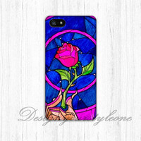 Beauty and the Beast rose iPhone 5 5s Case,iPhone 4 4s Case,iPhone 5C Case,Samsung Galaxy S3 S4 S5 Case rose Hard Plastic Rubber Case