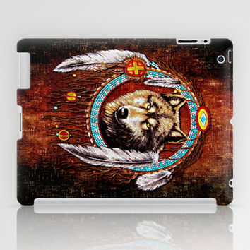 Indian Native Stark Clan Wolf Dream Catcher apple iPad 2, 3 and iPad mini Case