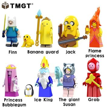TMGT Single Sale Adventure time Action Finn Banana Guard Model Jack Flame Princess Collection Building Blocks Kids Toys Gift