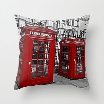London phone home Throw Pillow by  Alexia Miles photography